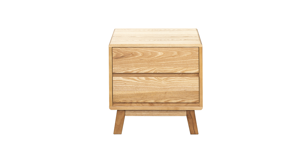 Arco 2 drawer bedside table