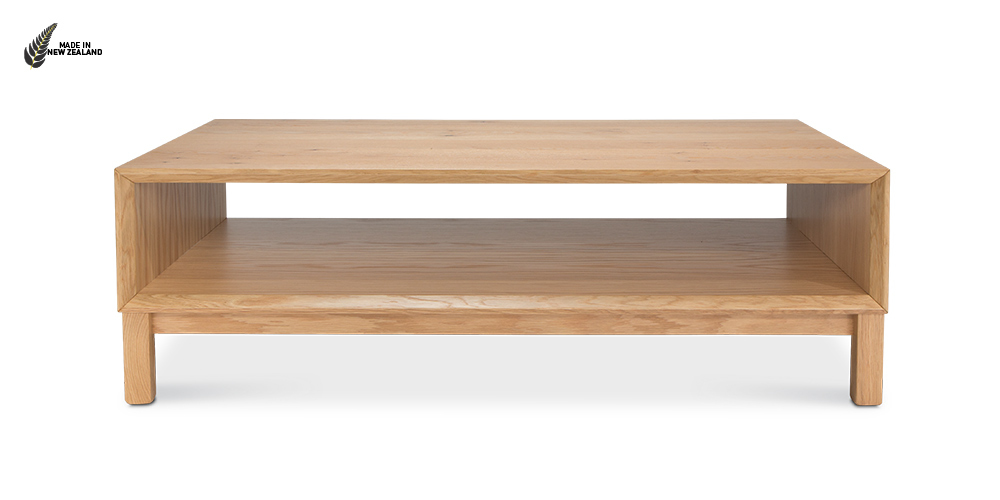 The Oslo Coffee Table with an open shelf from Hunter Furniture