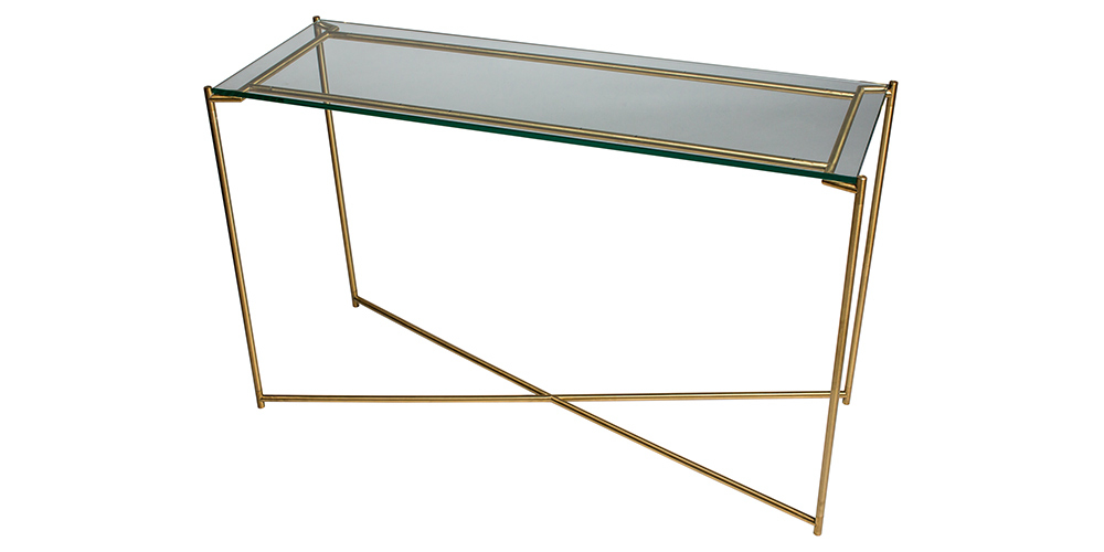 Iris Glass Console Table Hunter Furniture