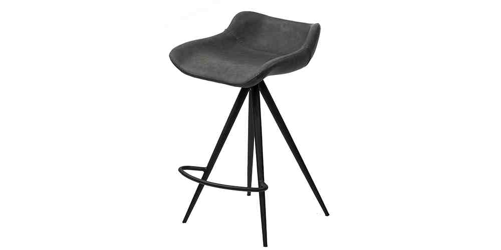 Mia Bar Stool in Charcoal