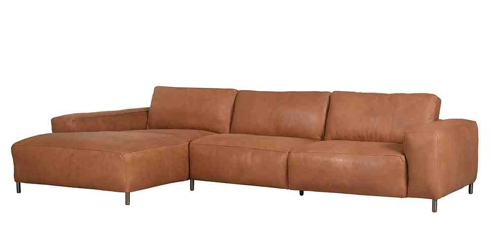 Fudge Chaise Free Hand Leather Co