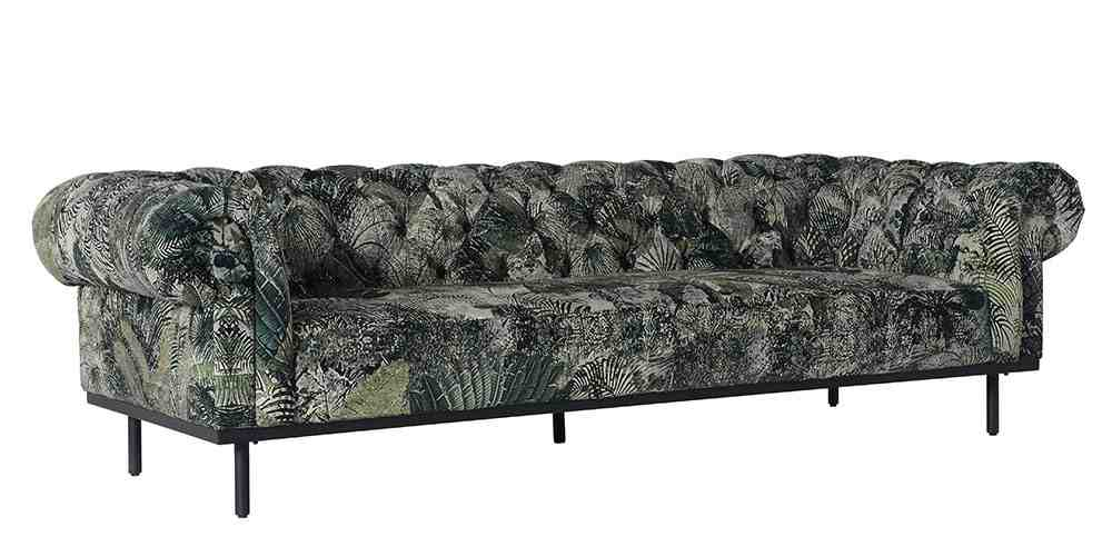 Free Hand Leather Co Velvet Parfait Sofa